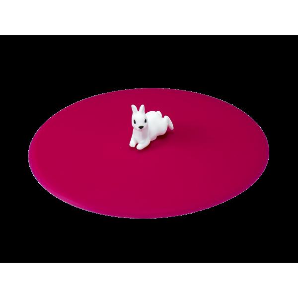 My Lid, couvercle protège verre en silicone décor animaux de compagnie - Lapin - LURCH 210829