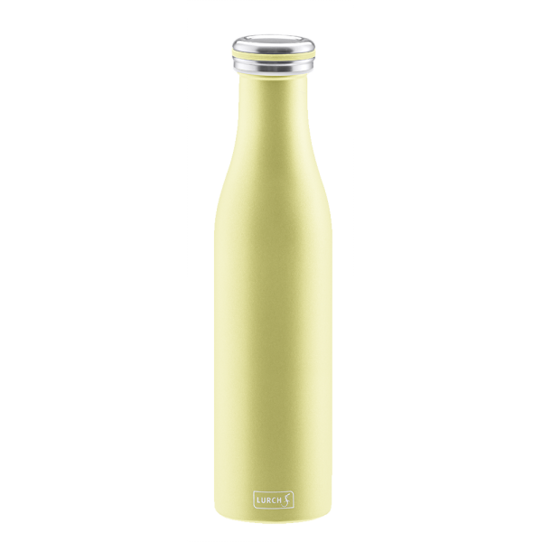 Bouteille isotherme 0,75 l jaune perle LURCH