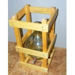 Bonbonne en verre cadre en bois empilable
