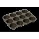 Moules à 12 Muffins Américain en Silicone Platinium - Lurch 85031