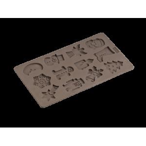 Moule Biscuits de Noël en Silicone Platinium - Lurch 65021