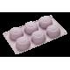 Moule 6 Fleurs Tournesol en Silicone Platinium - Lurch 85062