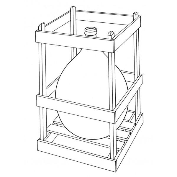 Bonbonne en verre 10L cadre en bois empilable et système de soutirage