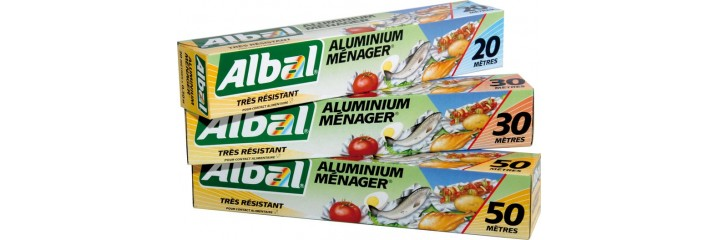 Break into leaf Albal aluminium